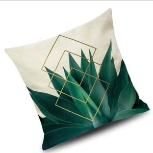 ✨JUST IN! ✨(1) Pillow case cover leaf Geo linen